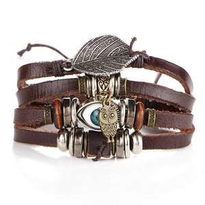 Turkish Eye Leather Bracelets For Men and Woman