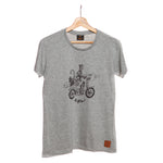 Highland Grey T-shirt - Surfing Cat
