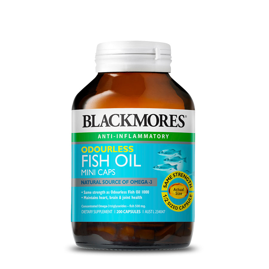ODOURLESS FISH OIL MINI CAPS 1000 200s - Blackmores Corporate Program by Kat Asia Pte Ltd