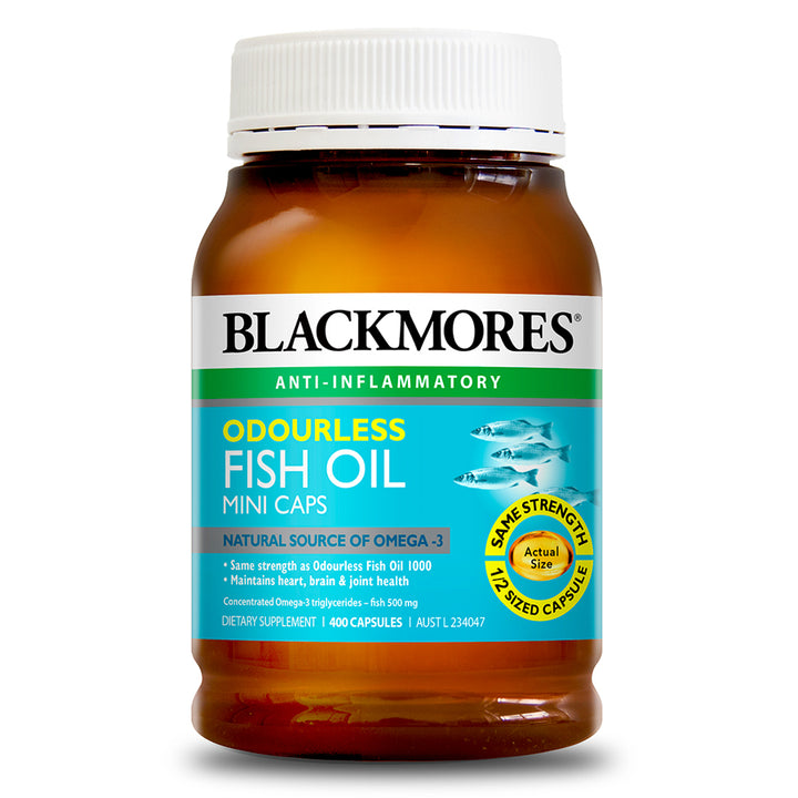 ODOURLESS FISH OIL MINI CAPS 1000 400s - Blackmores Corporate Program by Kat Asia Pte Ltd