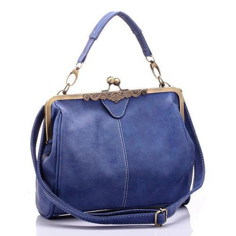 Olivia Messenger Bag-messenger bag-AmyandRose-Blue-Amy&Rose