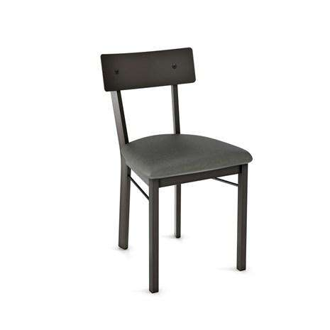 Lauren Dining Chair with Upholstered Seat and Metal Backrest by Amisco