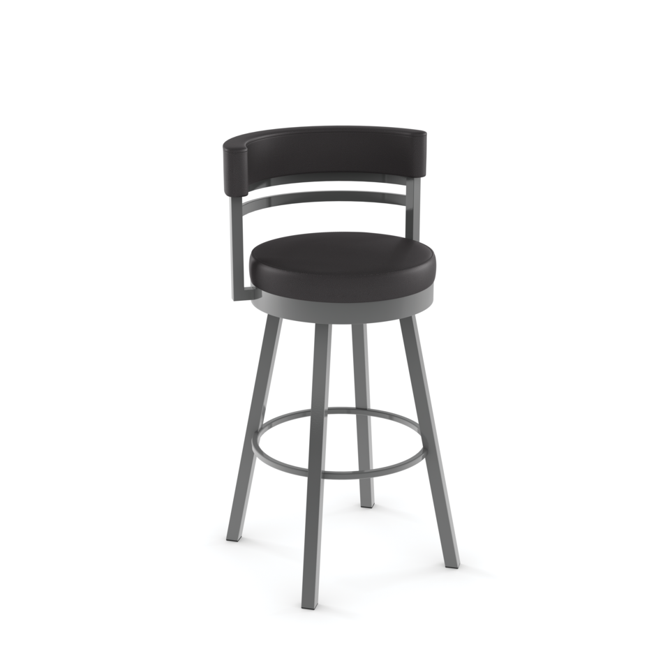 Ronny Swivel Counter Stool with Upholstered Seat and Backrest