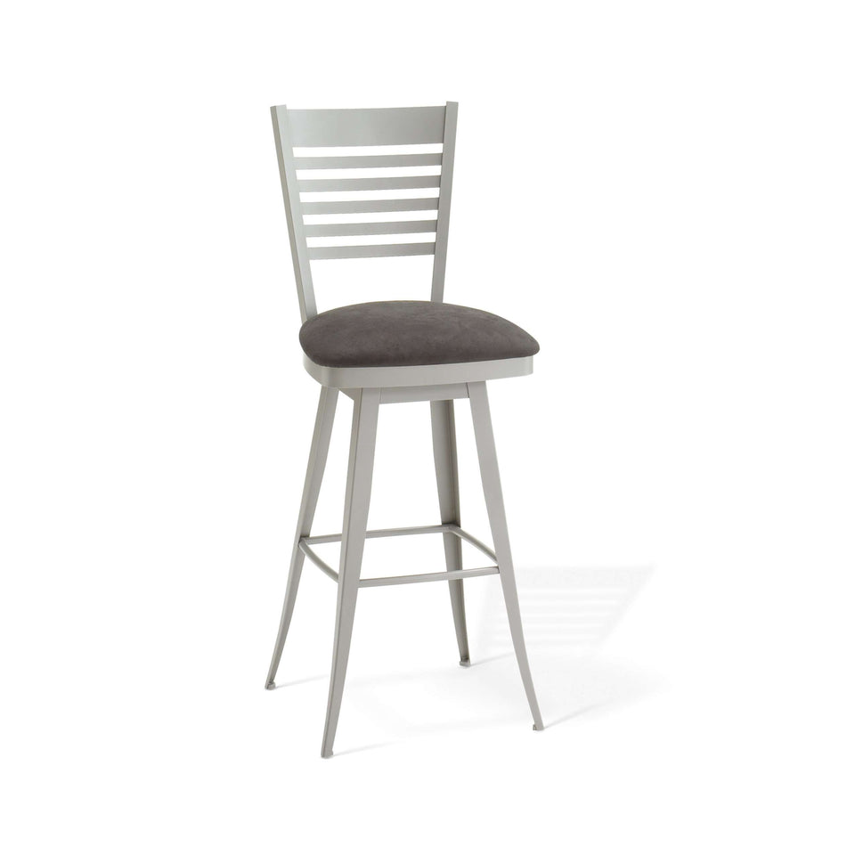 Edwin Swivel Spectator Stool with Upholstered Seat