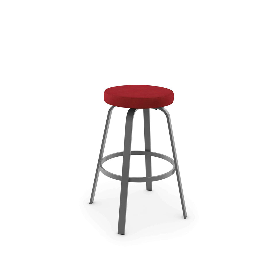 Amisco Reel Swivel Counter Stool with Upholstered Seat