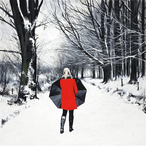 Red Coat in a Winters Landscape