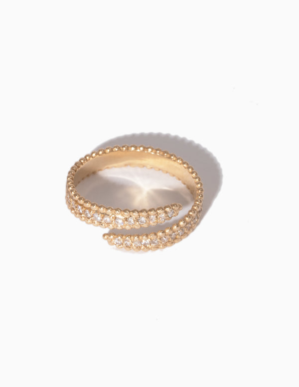 Pave Hook Ring