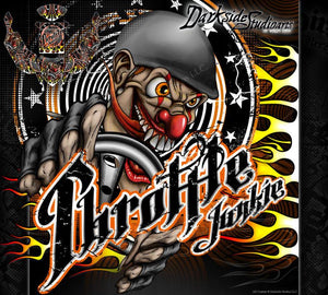 "KRAKEN TSK-B ""THROTTLE JUNKIE"" GRAPHICS WRAP DECAL KIT FITS OEM BODY & PANELS - Darkside Studio Arts LLC."