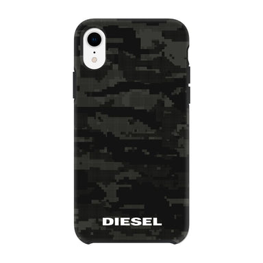 DIESEL - Printed Co-Mold Soft Touch Pixelated Case Camo Black for iPhone XR - caseplay