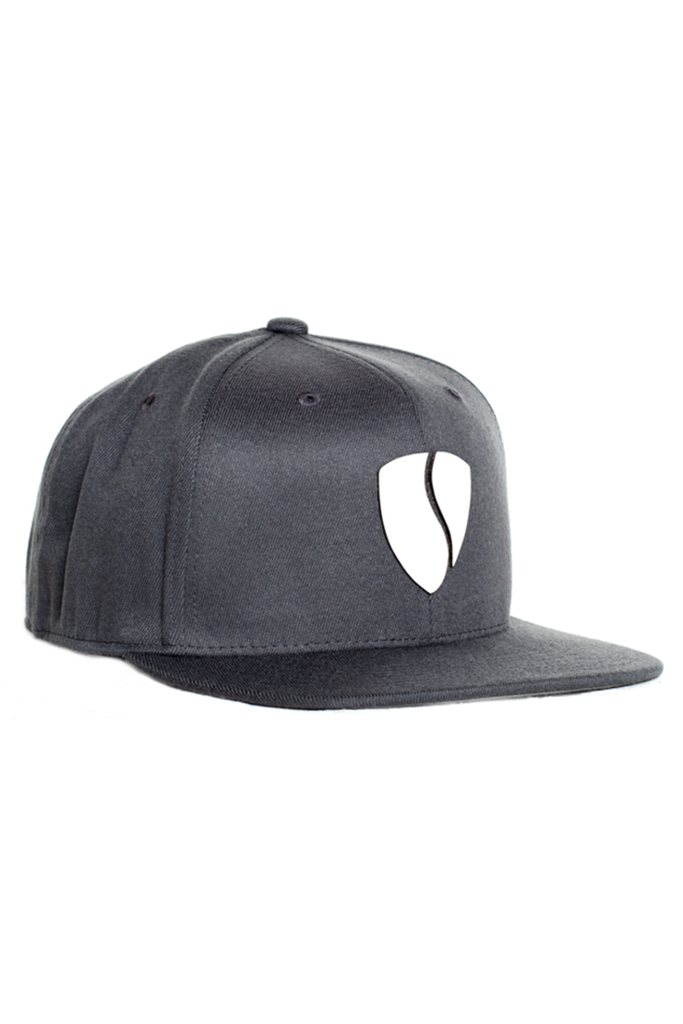 Hercules Hat - Grey / White Leather