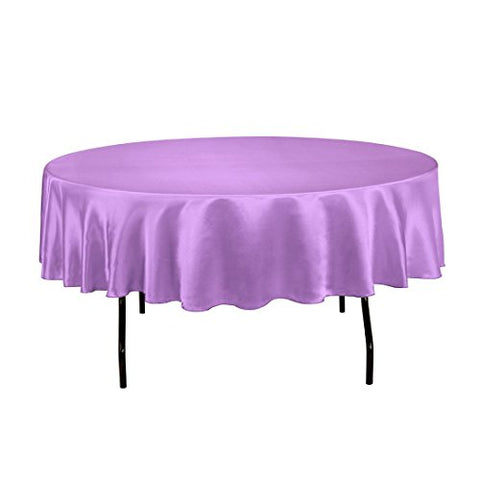 LinenTablecloth 90-Inch Satin Tablecloth,
