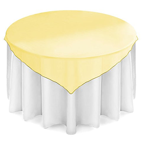 "Lanns Linens Organza Wedding Table Overlay - Tablecloth Topper (72"" Square - Multiple"