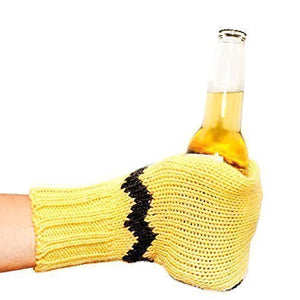 Suzy Beer Mitt, Knit Beverage Insulating Koozie, Beer Glove Keeps Your Drink Cold and Your Hand