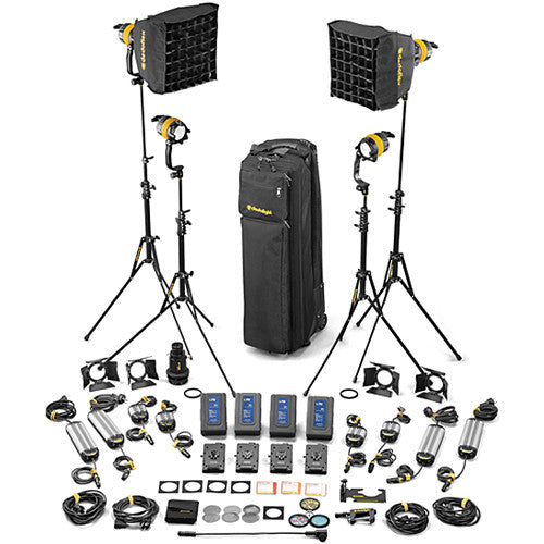 Dedolight DLED4-D Daylight LED 4-Light Master Kit (Mains & Battery Operation)