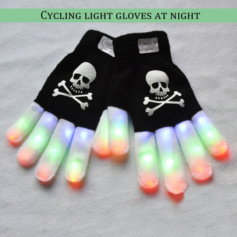 LED Light Emitting Stage Performing Night Riding Gloves Cool Flash