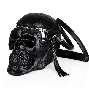Arsmundi Originality Women Bag Funny Skeleton Head Black handbag