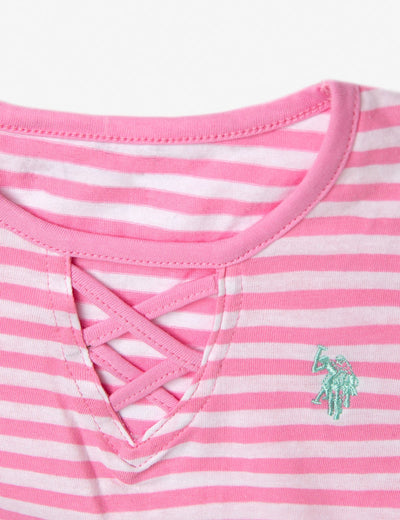 GIRLS 3 PIECE SET: VEST, TEE & LEGGINGS - U.S. Polo Assn.