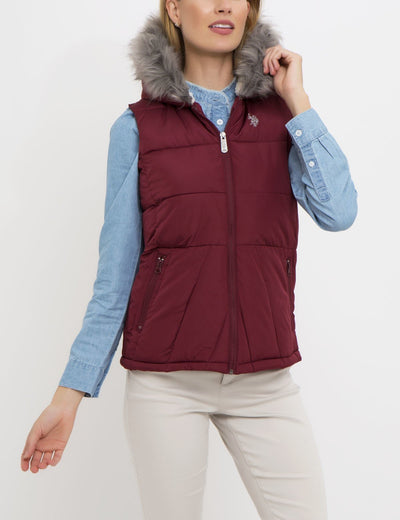 PRINCESS SEAM FUR HOOD VEST