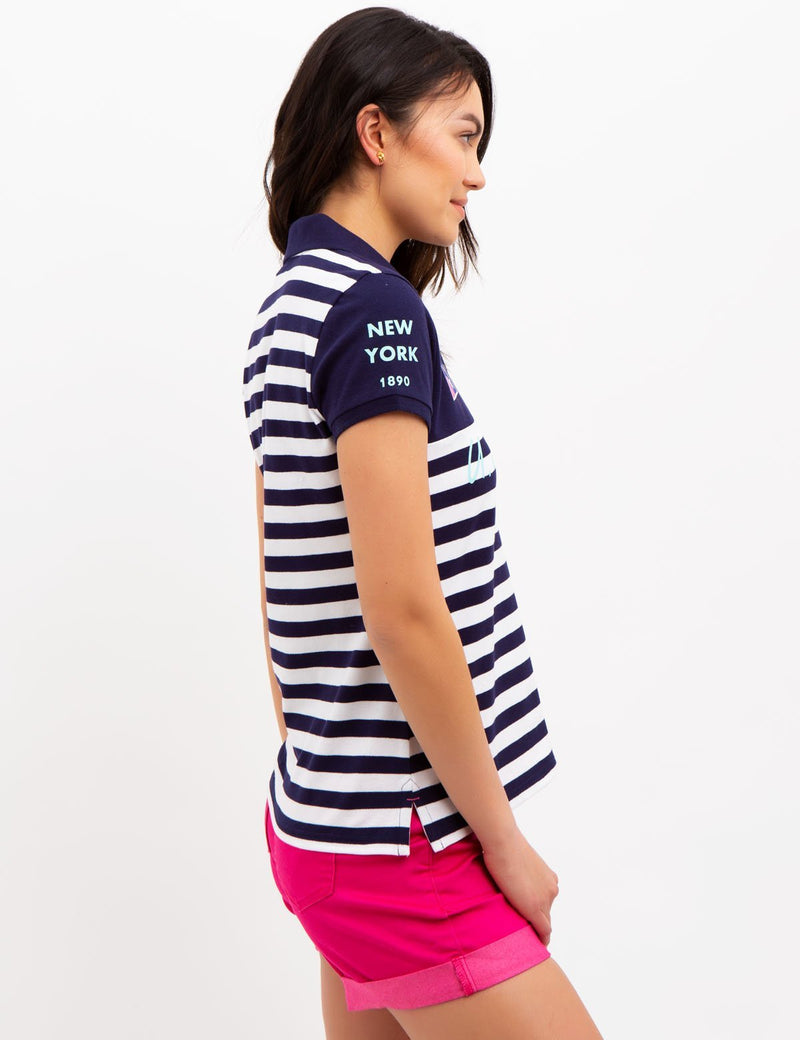 YACHT STRIPE POLO SHIRT