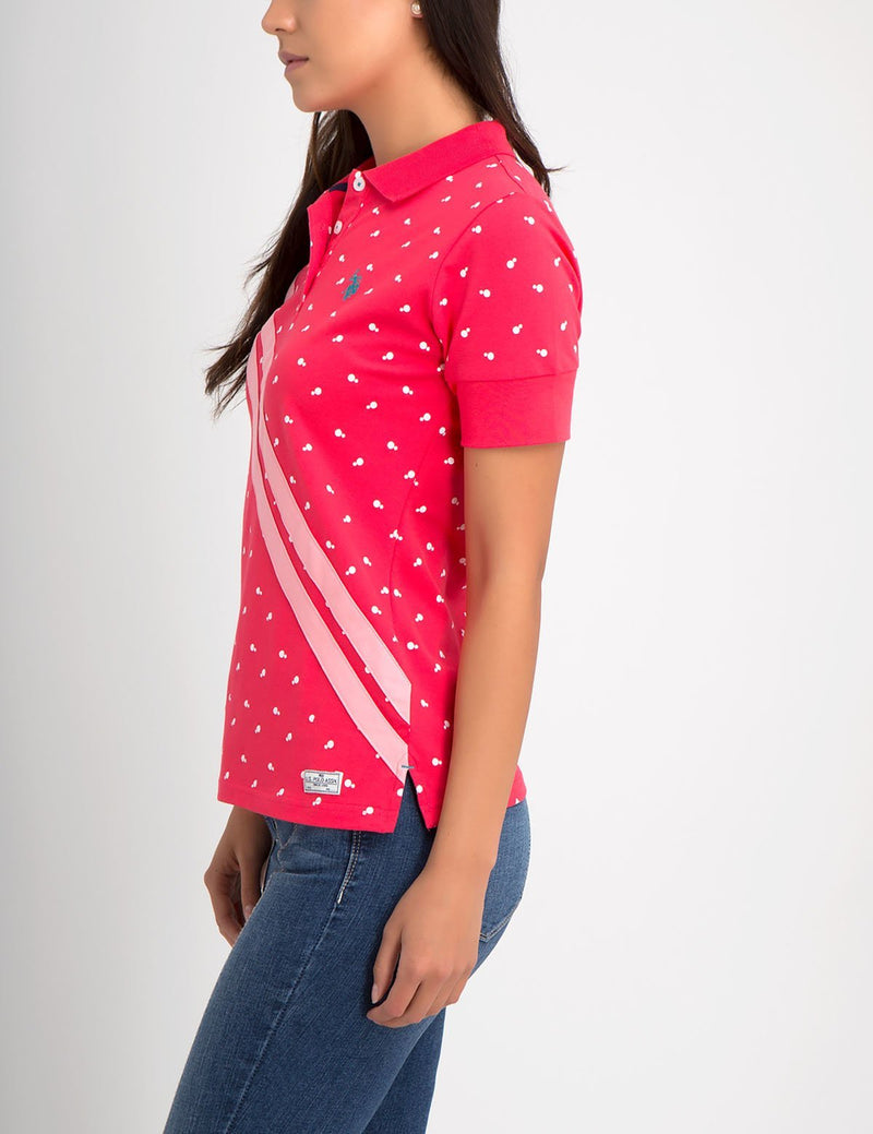 PREMIUM DOT SLASH POLO SHIRT