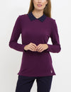 BIRDEYE PETER PAN COLLAR LONG SLEEVE TOP - U.S. Polo Assn.