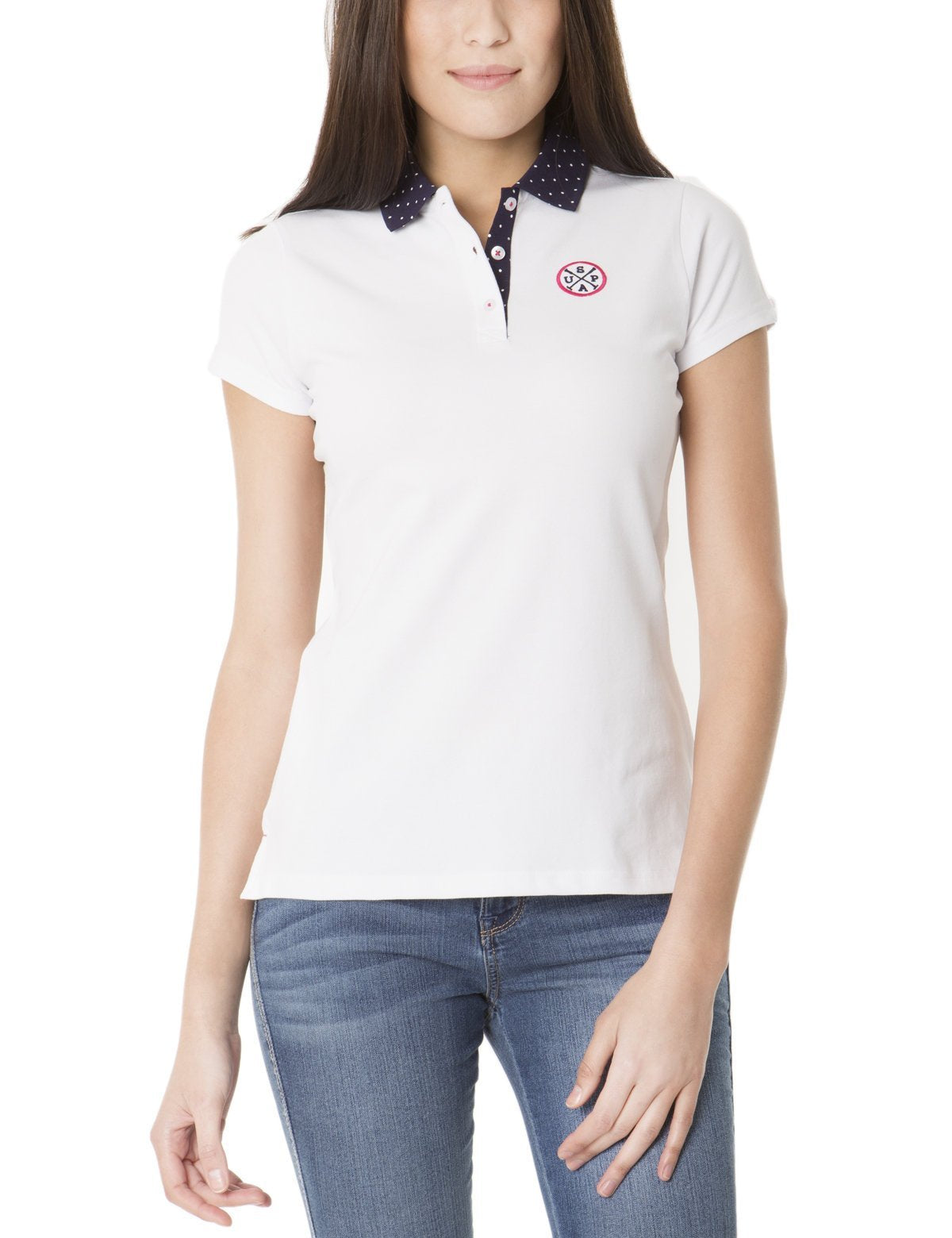 Dot Collar Polo Shirt