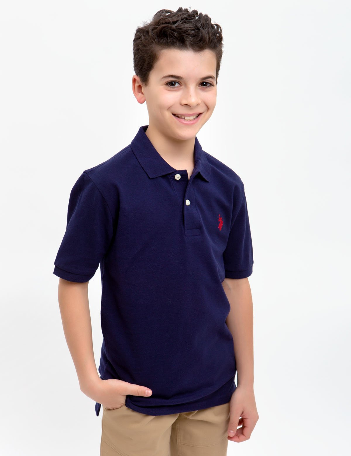 BOYS SMALL LOGO POLO SHIRT