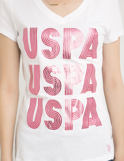 USPA TRIO V-NECK T-SHIRT - U.S. Polo Assn.