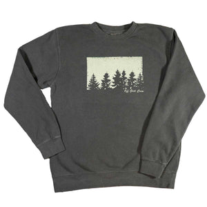 Charcoal Tree Sweatshirt <BR>(Order One Size Down)