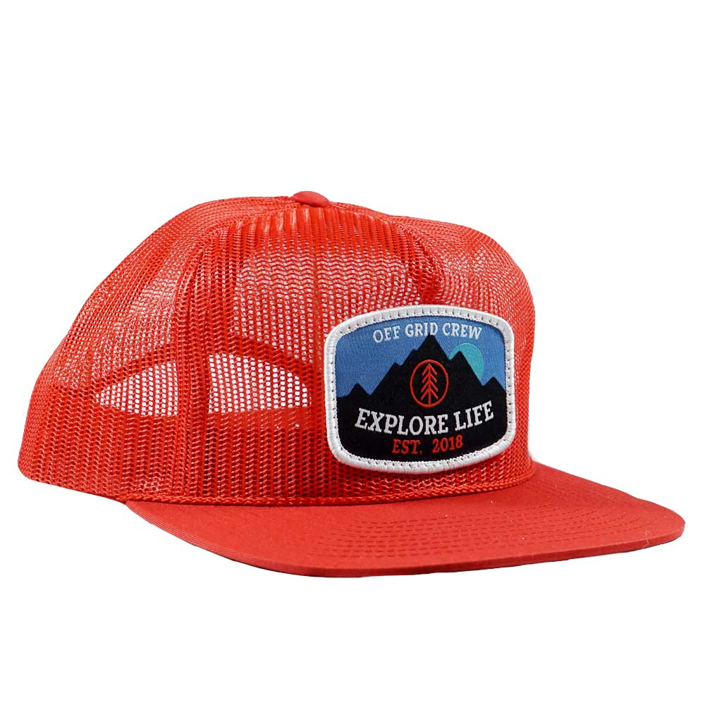 Explore Life Trucker OGC Hat - Red