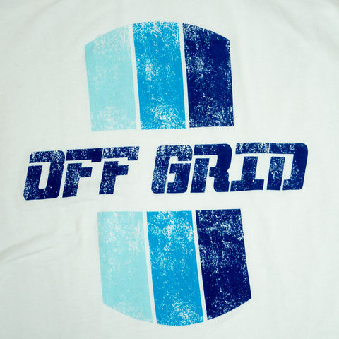 Original Off Grid women's tank zoomed in.