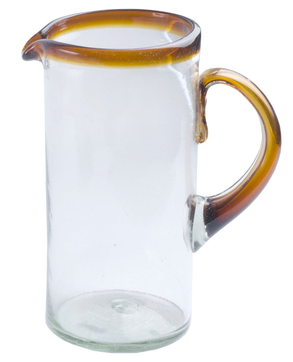 Orion Amber Rim 56 oz Margarita Pitcher - Orion's Table Mexican Glassware