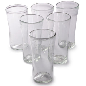 Orion Lily Collection 14 oz Tumbler Natural - Set of 6 - Orion's Table Mexican Glassware