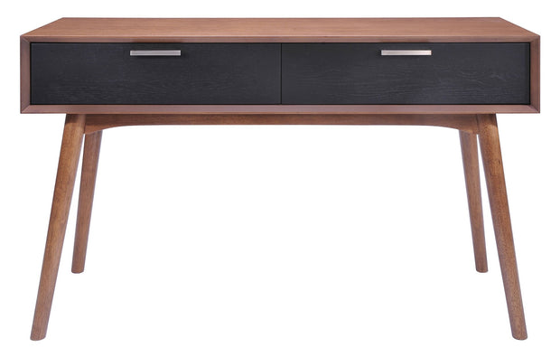 Liberty City Console Table Walnut & Blk is From the Indoor Collection designed in Rubberwood and Wood Veneer, MDF. Liberty City Collection part of the Storage,Storage set.