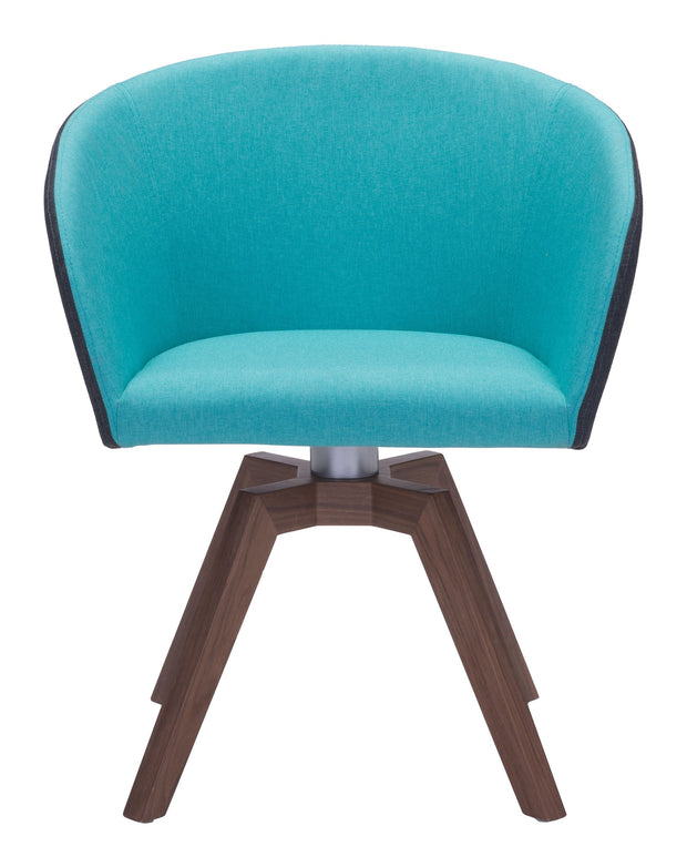 Wander Dining Chair Blue/Gray is From the Indoor Collection designed in Powder Coated Metal, Solid Wood and Polyester . Wander Collection part of the Chairs, Stools set.