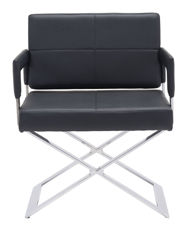 Yes Dining Chair Black is From the Indoor Collection designed in Chromed Steel and Leatherette. Yes Collection part of the Chairs, Stools set.