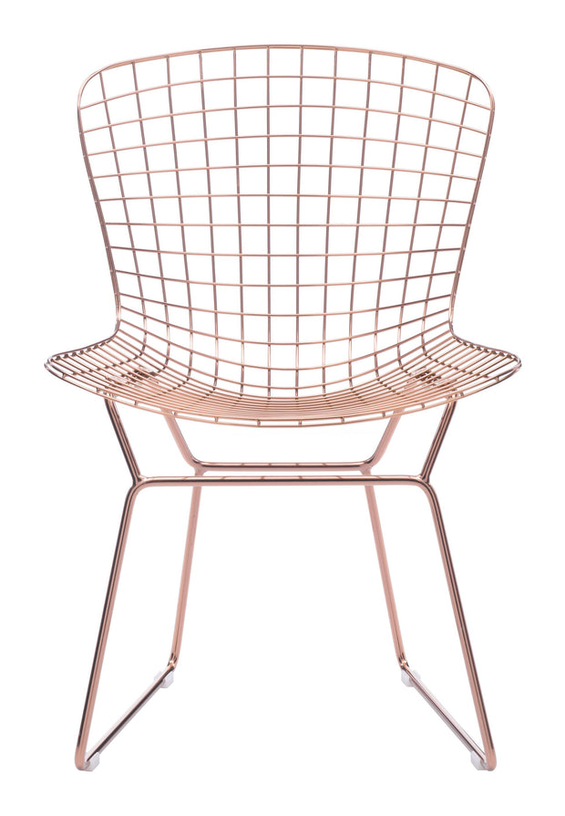 Wire Dining Chair Rose Gold is From the Indoor Collection designed in Chromed Steel . Wire Collection part of the Chairs, Stools set.