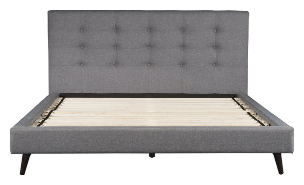 Modernity King Bed Gray is From the Indoor Collection designed in Rubber Wood and Polyester. Modernity Collection part of the Beds set.