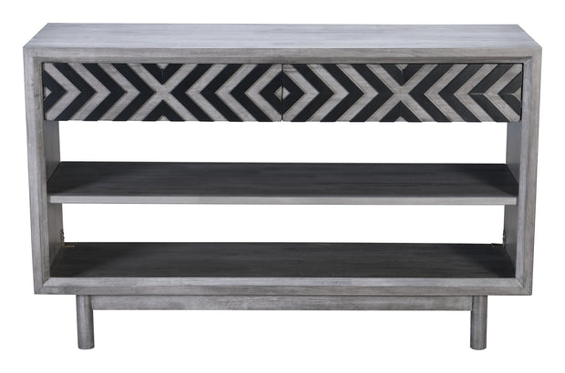 Raven Console Table Old Gray From the Indoor Collection designed in MDF, Rubber Wood and Rubber Wood Veneer. Raven Collection part of the Coffee, Side, Consoles set.