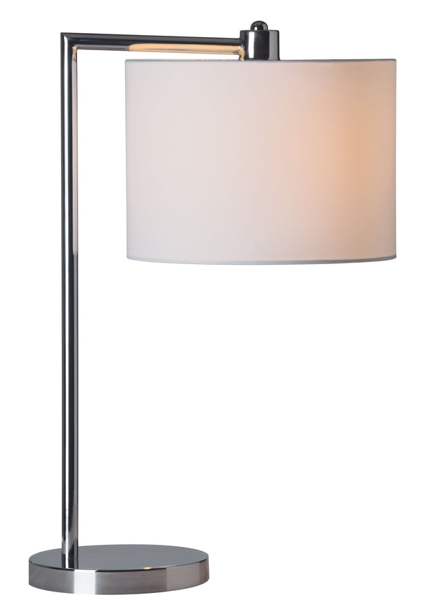Race Table Lamp From the Lighting Collection in Metal with In-line Switch. Race Table Lamps bulb type is Type A19 with Max bulb watt at 60W with socket size E26