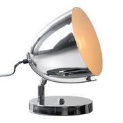 Jog Table Lamp From the Lighting Collection in Metal with In-line Switch. Jog Table Lamps bulb type is Type A19 with Max bulb watt at 40W with socket size E26