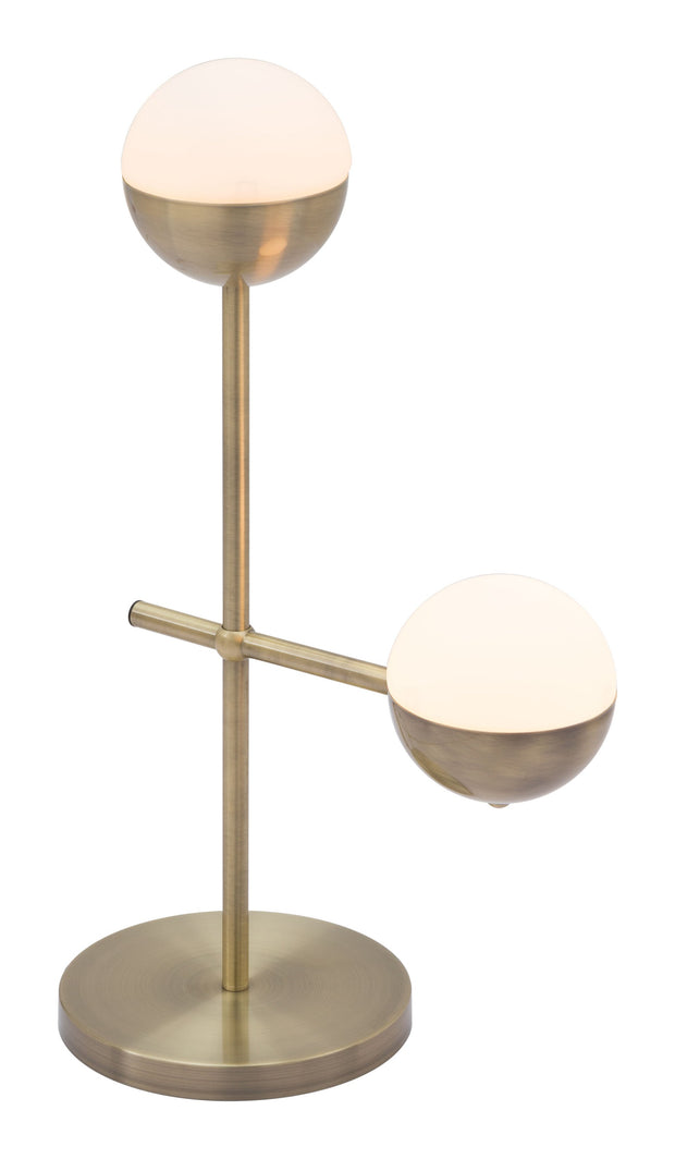 Waterloo Table Lamp White & Brushed Bronze From the Lighting Collection in Metal with IN-LINE, SUIT DIMMER. Waterloo Table Lamps bulb type is G50 with Max bulb watt at 40W with socket size E12