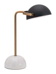 Irving Table Lamp Black From the Lighting Collection in Steel & Marble with IN-LINE, SUIT DIMMER. Irving Table Lamps bulb type is G50 with Max bulb watt at 40W with socket size E12