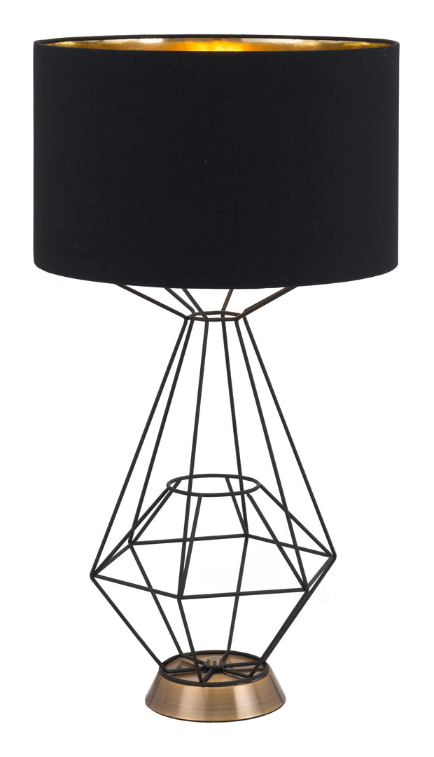 Delancey Table Lamp Black From the Lighting Collection in Steel with IN-LINE, SUIT DIMMER. Delancey Table Lamps bulb type is A19 with Max bulb watt at 60W with socket size E26