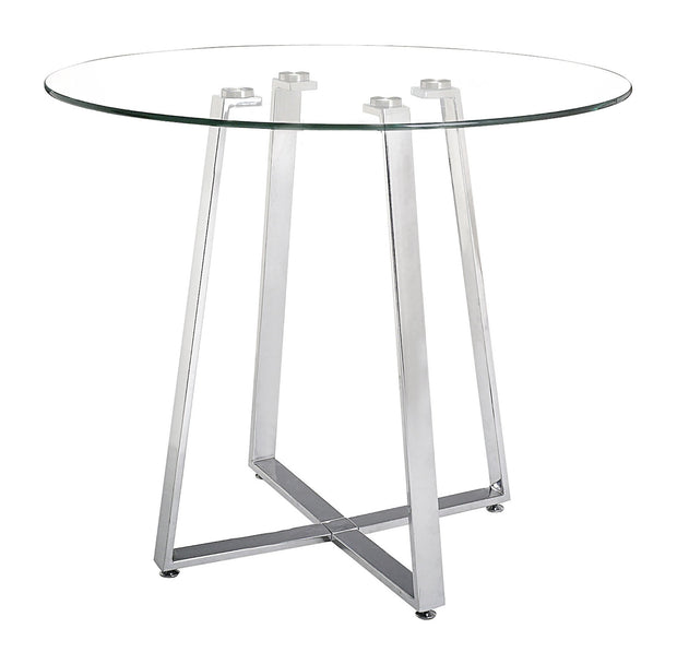 Lemon Drop Counter Table Chrome is From the Indoor Collection designed in Chromed Steel and Tempered Glass. Lemon Drop Collection part of the Tables set.