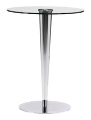 Kool Bar Table Chrome is From the Indoor Collection designed in Chromed Steel and Tempered Glass. Kool Collection part of the Tables set.