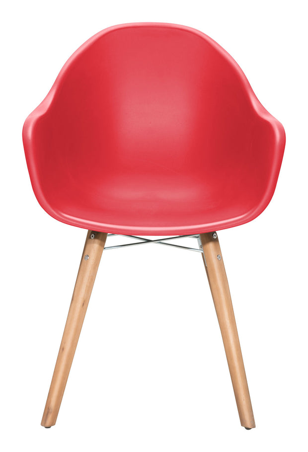 Tidal Dining Chair Red is From the Indoor,Outdoor Collection designed in Acacia Wood and Polypropylene. Tidal Collection part of the Chairs, Stools,Chairs, Stools set.