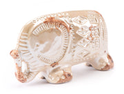 Antique Small Elephant Distressed Pearl