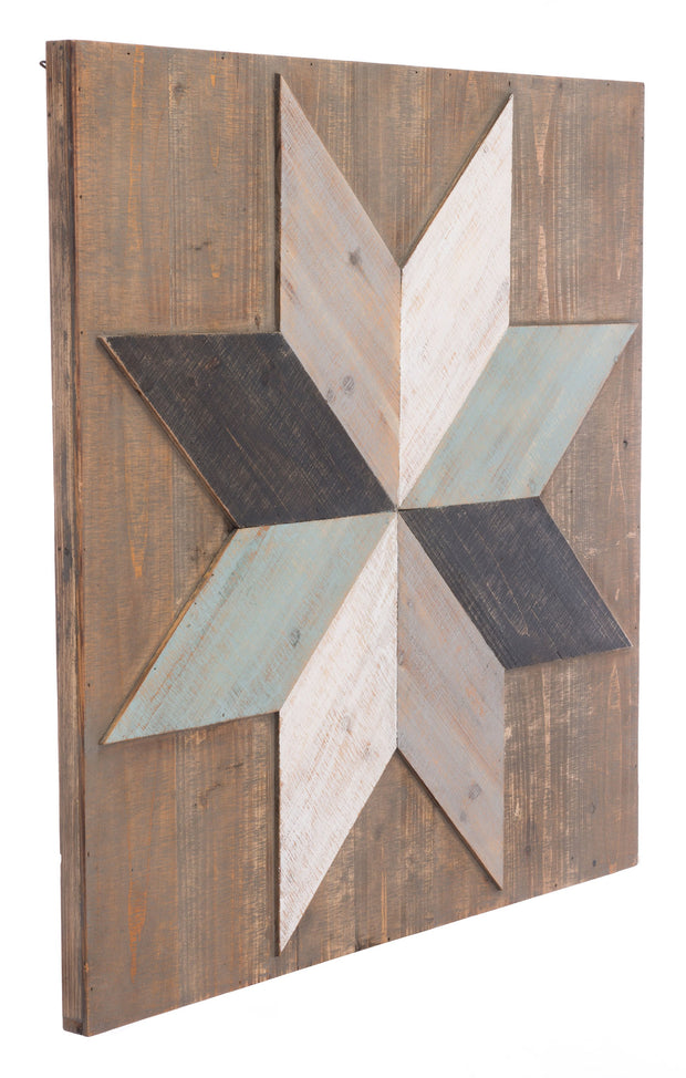 Wind Rose Wall Decor Brown