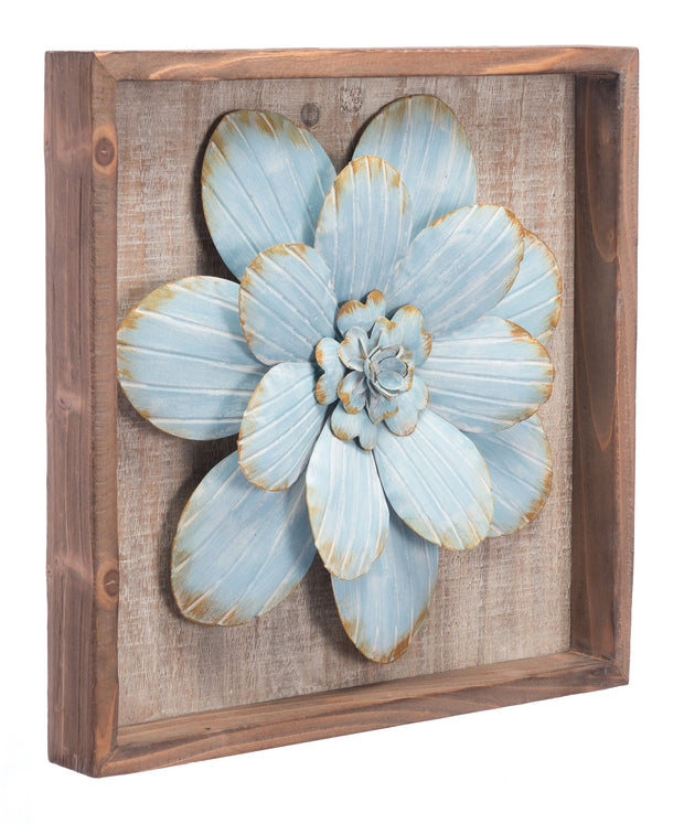 White Star Succulent Wall Decor